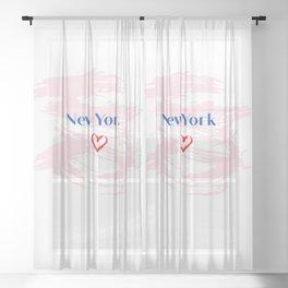New York City <3 Sheer Curtain