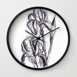 Lili flower in spring II Wall Clock