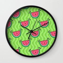 Sweet Watermelon Green Lime Wall Clock