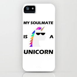 Show your endless infinite love Soulmate T-Shirt Unicorn iPhone Case