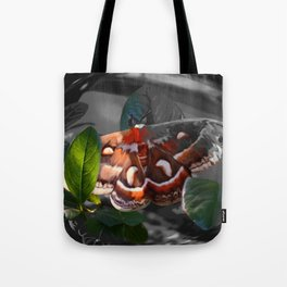 """""""As Daylight Ends"""" - Cecropia Moth Painting Tote Bag"""