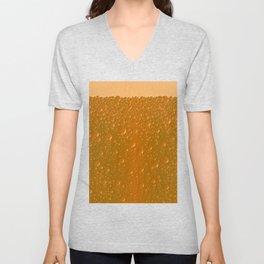 Orange Shade Bibble Background Unisex V-Neck