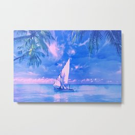 Tropical yachting Metal Print