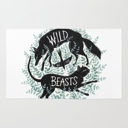 We Are Wild Beasts Rug