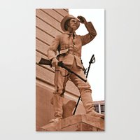 battlefield Canvas Prints featuring Battlefield by Photaugraffiti