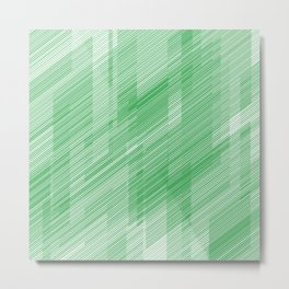 The Green Hash - Geometric Pattern Metal Print