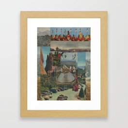 Scientists Fly To Work Framed Art Print