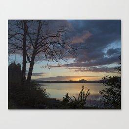 Lake Quinault Sunset, Washington Canvas Print