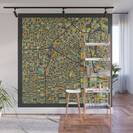 LOS ANGELES MAP Wall Mural