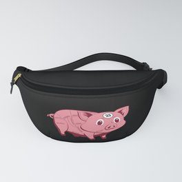 pink pig Fanny Pack