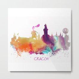 Cracow Poland skyline Metal Print
