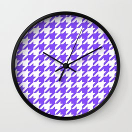 Periwinkle Houndstooth Wall Clock