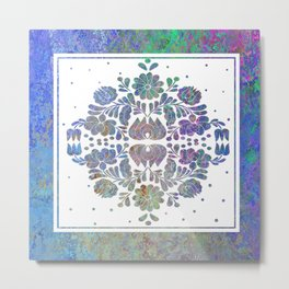 Folk Art Design Metal Print