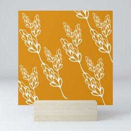botanical lines Mini Art Print