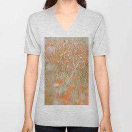 Field of orange flowers Unisex V-Neck