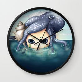 The monster in the sea is the water that reflects. Wall Clock