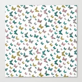 butterflies_pink Canvas Print