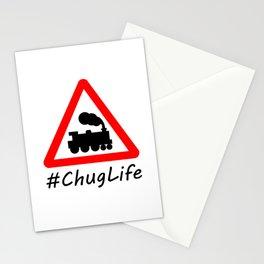 #ChugLife Warning Train Stationery Cards