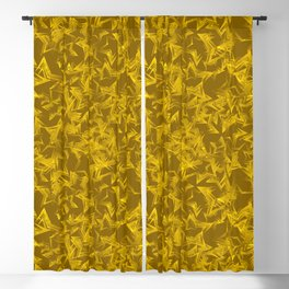 Golden starry dense texture on a yellow background. Blackout Curtain