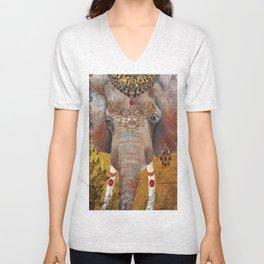 Gilded Elephant of Jaipur Unisex V-Neck