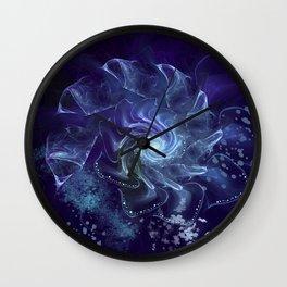 Midnight Lace Mixed Media Wall Clock