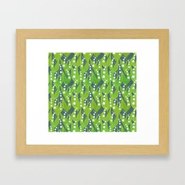 Lily of the Valley Pattern Framed Art Print