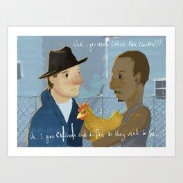 Creed Movie, Rocky quote illustration Art Print