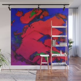 Red erosion Wall Mural