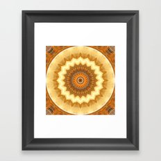 Mandala gold of the incas Framed Art Print