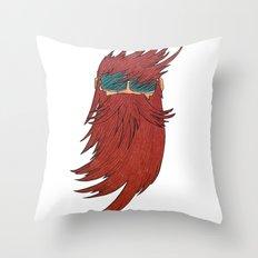 Beard Dude Throw Pillow