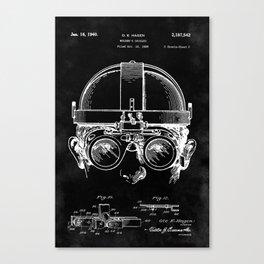 Welding Goggles Blueprint Canvas Print