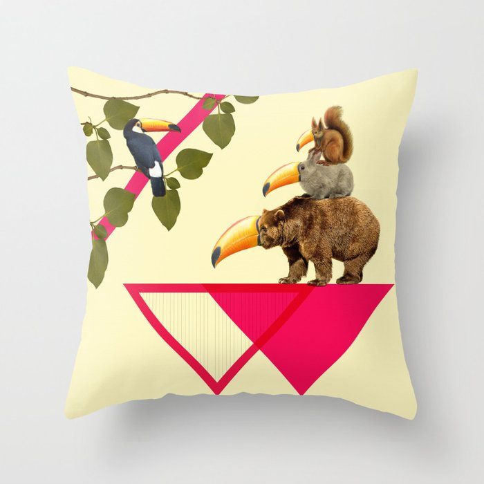 everybody would love to be a toucan  Throw Pillow