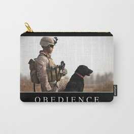 Obedience: Inspirational Quote and Motivational Poster Carry-All Pouch