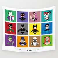 gotham Wall Tapestries featuring Gotham Heroes & Villains by NBdesign