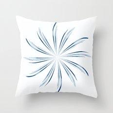 Steel Blue Star Throw Pillow
