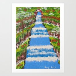 Tropical Rain Forest Water Fall Art Print