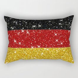 Glitters Germany Flag with Sparkles Rectangular Pillow
