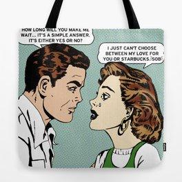 Latte Love a Barista's Heartbreak Tote Bag