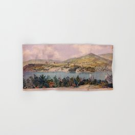 Panorama of West Point from Constitution Island by John Rubens Smith (c 1820) Hand & Bath Towel