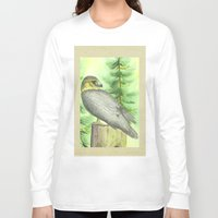 merlin Long Sleeve T-shirts featuring Merlin Falcon by Holly Barbo