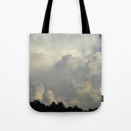White Cloudscape Tote Bag