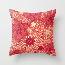 Seamless texture with flowers Throw Pillow