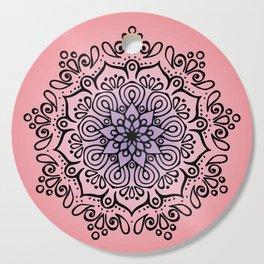 Baesic Sunset Traquil Mandala Cutting Board