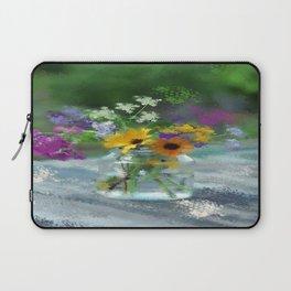 Wild Flower Jar Laptop Sleeve