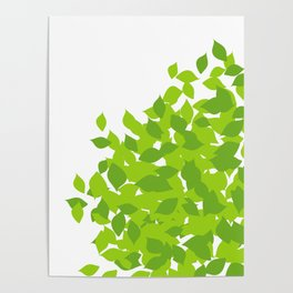 Composition with fresh green spring leaves- earth day gift Poster