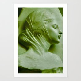 Damsel in White Art Print