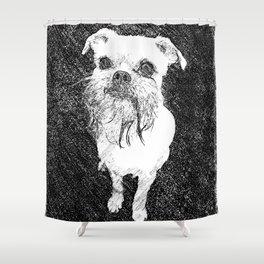 St: Simeon Griffon Bruxellois 10 Shower Curtain
