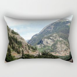 Driving the Spectacular, but Perilous Uncompahgre Gorge, No. 2 of 6 Rectangular Pillow