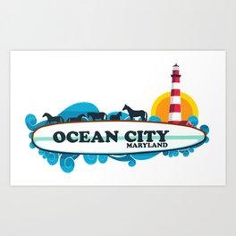 Ocean City - Maryland. Art Print