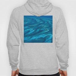 Dramatic Blue Ocean Waves Hoody
